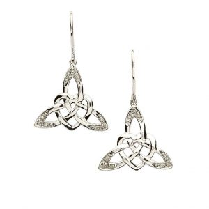 Intricate Celtic Knot Sterling Silver Earrings