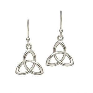Irish Trinity Knot Drop Earrings