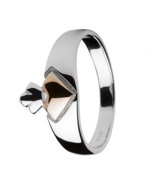 House of Lor Iconic Gold Heart Claddagh Ring