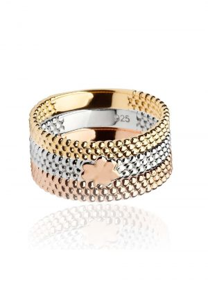 House of Lor Tri Color Stacking Ring