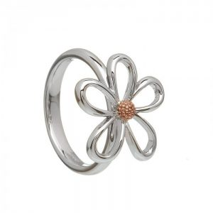 House of Lor Sterling Silver Gold Petal Ring