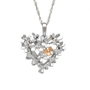 Love Shamrock Diamond 9ct White Gold Pendant