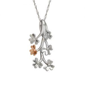 Love Shamrock Diamond 9ct White Gold Spray Pendant
