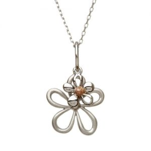 Sterling Silver Rose Gold House of Lor Petals Pendant