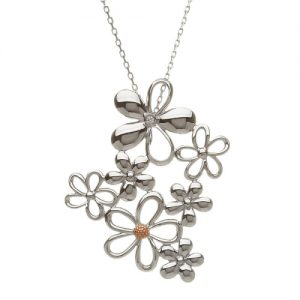 House of Lor Petal Sterling Silver Bouquet Pendant
