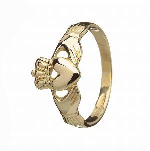 10K Yellow Gold Claddagh Irish Ring