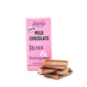 Skellig Chocolates Rose & Pistachio 3 Bar Pack