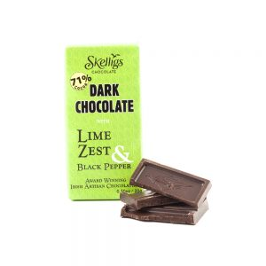 Skellig Chocolates Lime Zest & Black Pepper 3 Bar Pack