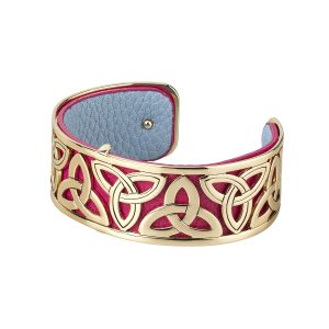 Solvar Silver Tone Trinity Bangle Cuff Bracelet