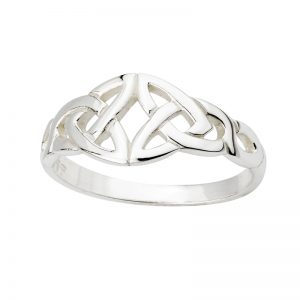 Sterling Silver Trinity Knot Celtic Irish Ring