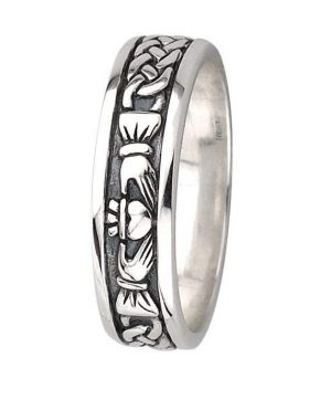 Silver Ladies Claddagh Ring by Solvar