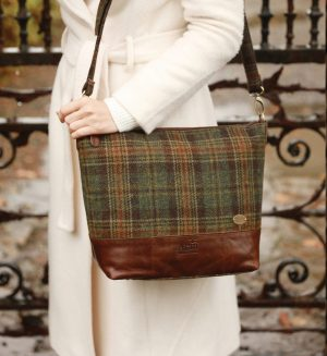 Tweed & Leather Tote Bag