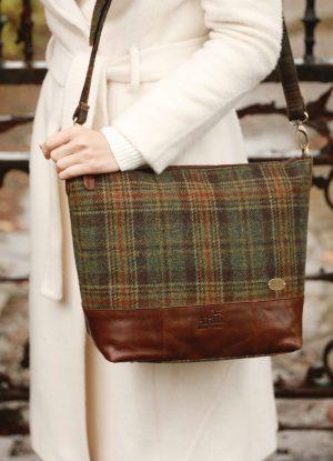 Tweed & Leather Tote Bag