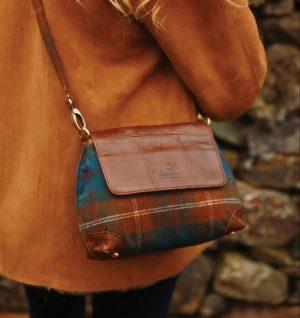 Tweed & Leather Slim Handbag
