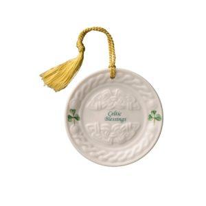 Belleek Classic Celtic Plate Hanging Ornament