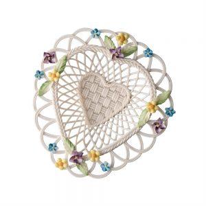 Belleek Classic Flowers of Spring Basket