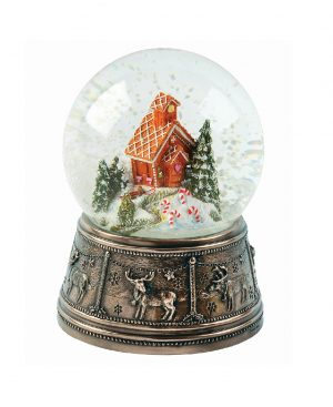 Genesis Gingerbread House Snow Globe