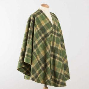 John Hanly Lambswool Irish Green Sue Cape - 618