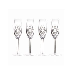 Waterford Crystal John Rocha Seda Champagne Flutes