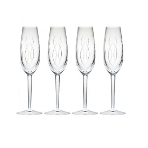 Waterford Crystal John Rocha Weft Champagne Flutes