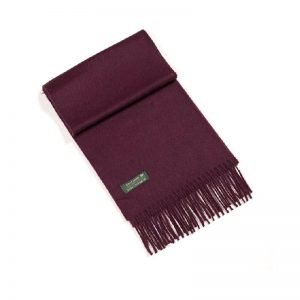 100% Irish Cashmere Wine Scarf 462