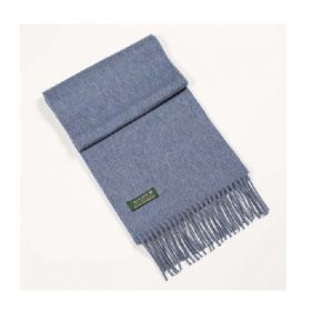 100% Irish Cashmere Blue Scarf 463