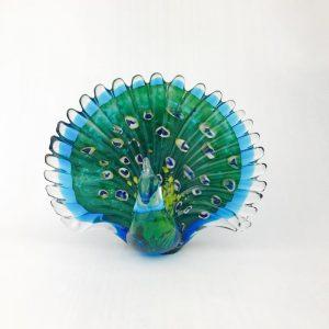 Glass Multi Color Peacock