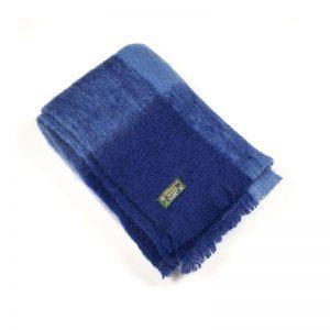 Blue Check Mohair Blanket John Hanly 518