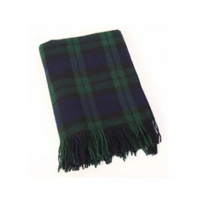 Large Wool Tartan Blanket John Hanly 114