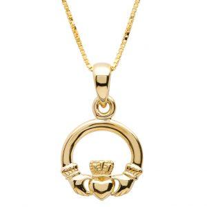 Gold 10K Claddagh Pendant