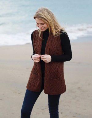 Merino Wool Aran Waistcoat