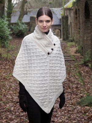 Natural Merino Wool Poncho