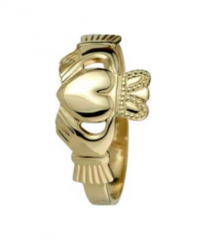 9k Maids Gold Claddagh Ring by Solvar s2454