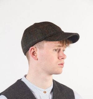Green Baseball Cap With Ear Flaps By John Hanly