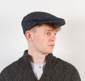 John Hanly Blue Tweed Cap