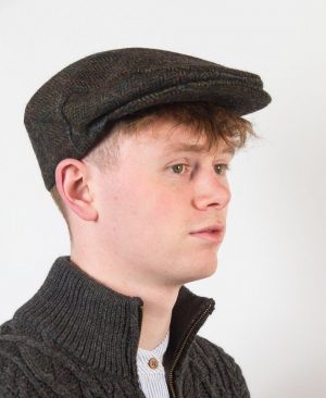 John Hanly Green Tweed Cap