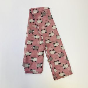 Pink Irish Sheep Scarf