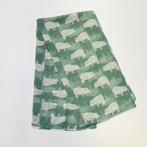Green Irish Pig Scarf