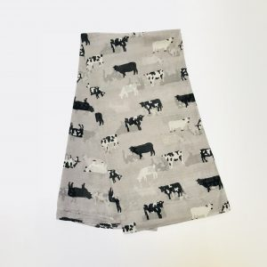 Gray Cow Scarf
