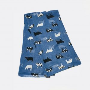 Blue Cow Scarf
