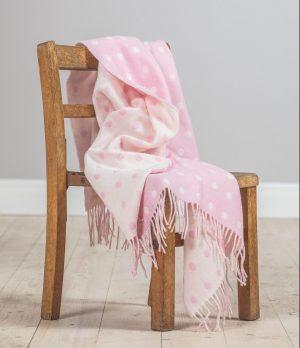 Foxford Pink Spot Baby Blanket