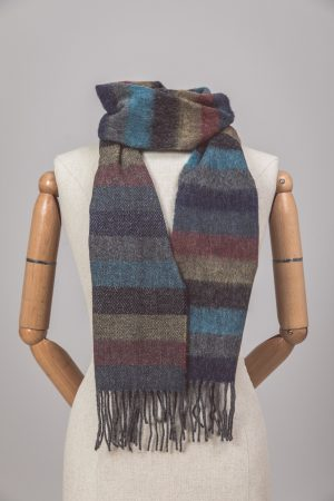 Foxford Lambswool Armada stripe scarf 4064/A1