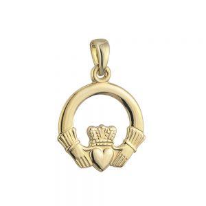 Solvar 14k Gold Claddagh Charm S8027