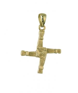 Solvar 14k Gold Double Sided St Brigid Cross Charm s8043
