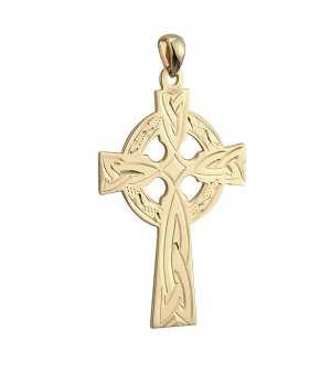 Solvar 14k Large Celtic Cross s8101