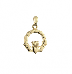 Solvar 14K Medium Claddagh Rope Charm