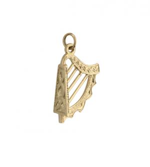 Solvar Small 9k Gold Harp Charm s8179