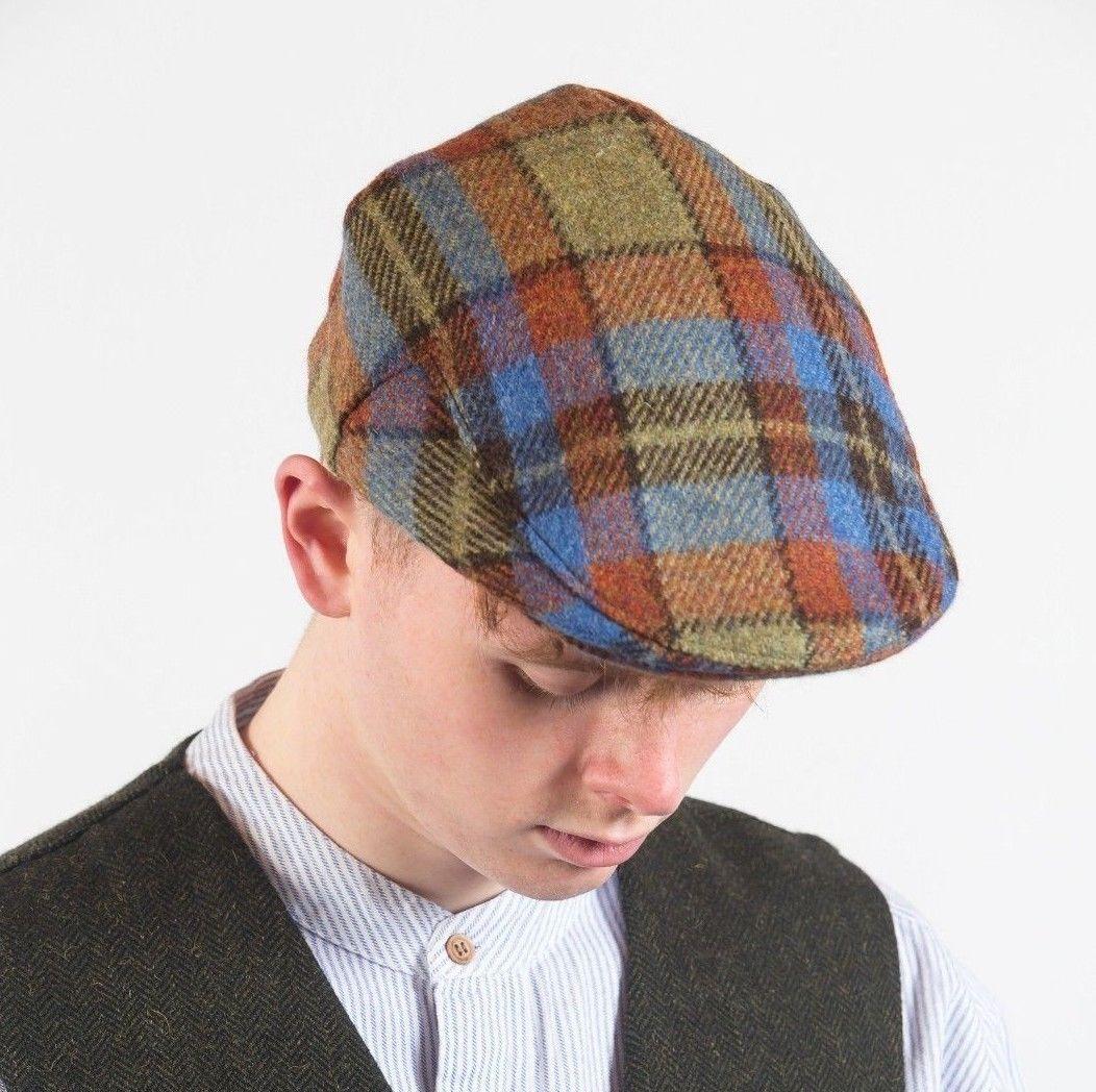 bcc3fe1d034ec John Hanly Multi Color Tweed Cap h78 - Skellig Gift Store