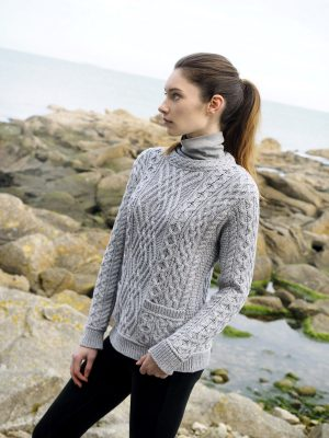 Aran Cable Crew Neck Sweater
