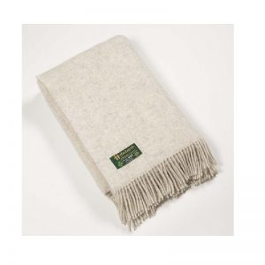 John Hanly Large Undyed Pure Wool Blanket Throw 1301